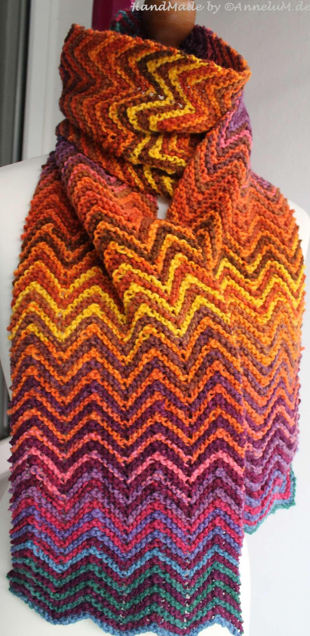 Zickzack Schal Handmade By Annelumde Pinterest Stricken
