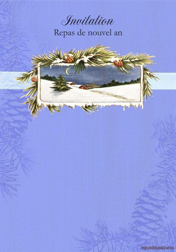 Belle Carte D'anniversaire Gratuite À Imprimer Unique Belle Carte Invitation Repas De Nouvel An Gratuite A #repasnouvelan