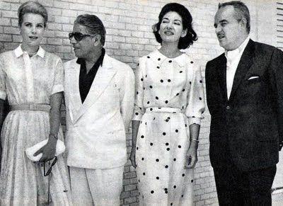 Aristoteles Onassis, Maria Callas, Prince Rainier, Princess Grace of Monaco