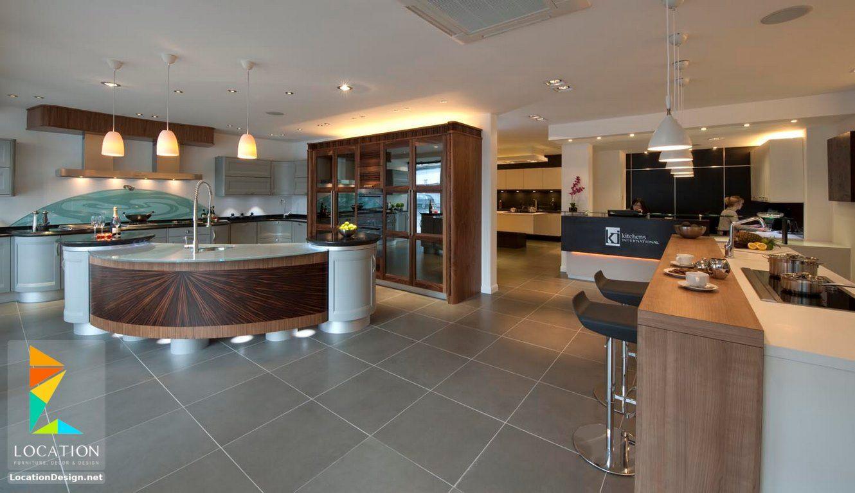 افضل انواع المطابخ بالصور لوكشين ديزين نت Spacious Kitchens Professional Kitchen Design Modern Kitchen Design