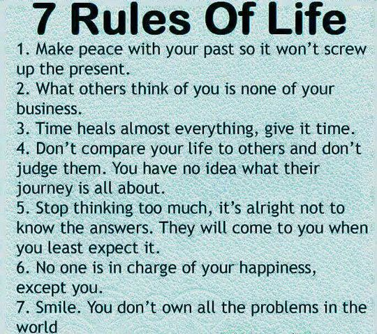 Try To Live By These Rules Yes Pinterest Quotes Words And 60 Gorgeous 7 Rules Of Life Quote
