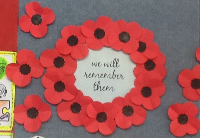 My students created this Remembrance Day Wreath. #remembrancedaycraftsforkids