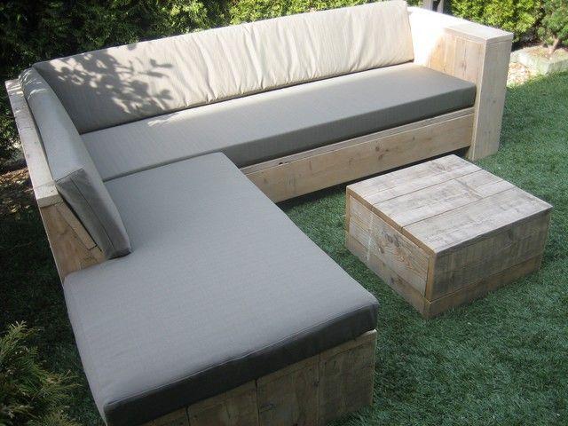 Steigerhout Meubels Barendrecht : Steigerhouten winkelinrichting tafel meubels lounge hoek bank bed