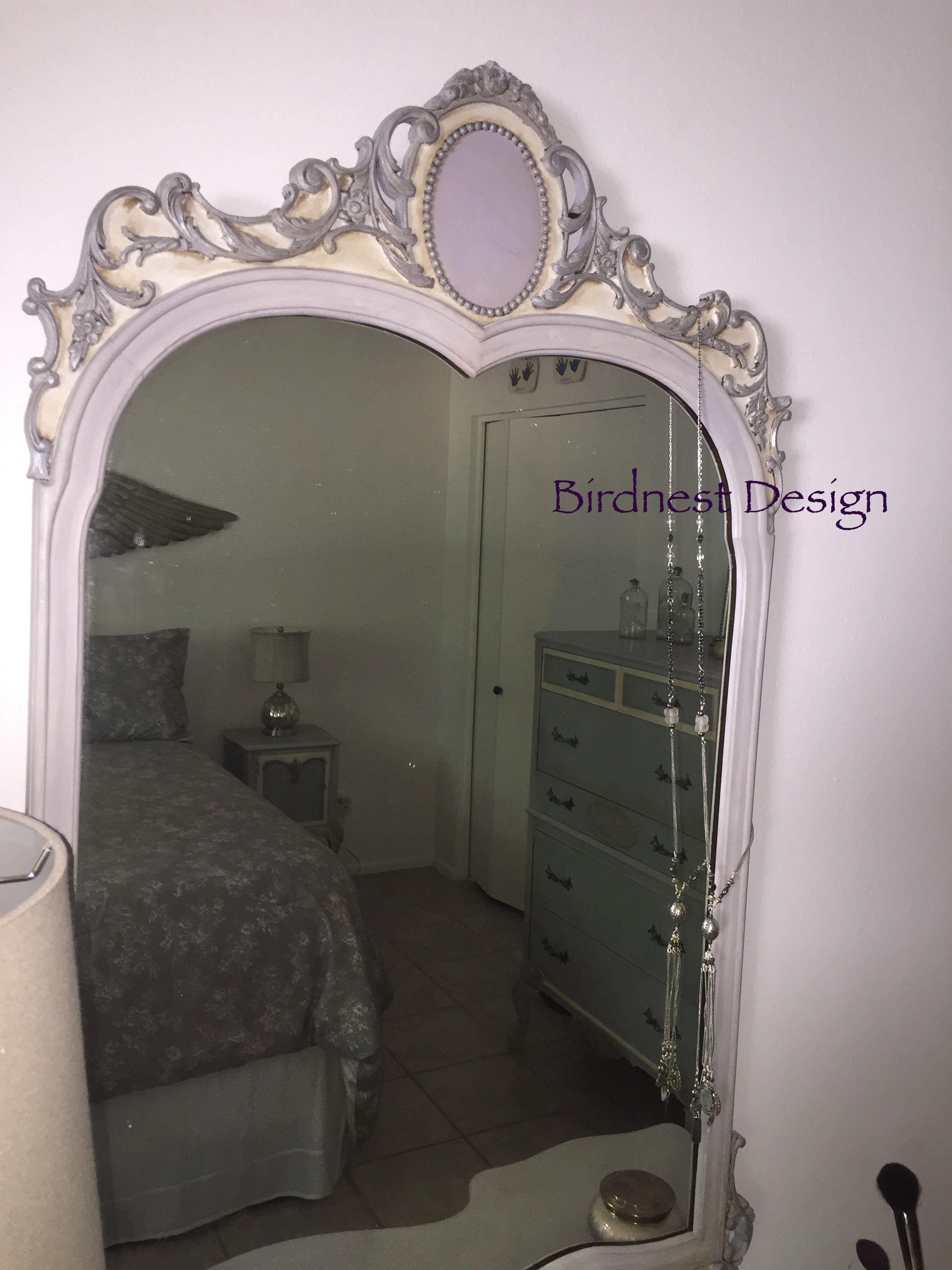 Vanity Mirror Annie Sloan Paloma, Paris Grey, Old White Ascp