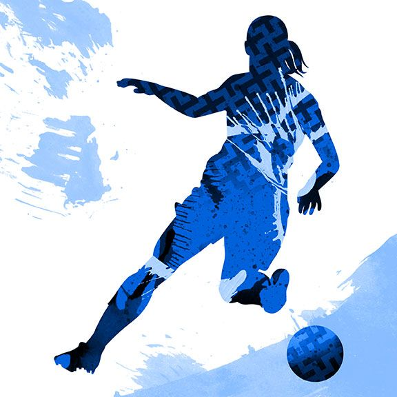 Women S Soccer Illustration By Brian Woodlief In 2020 Illustration Womens Soccer Character