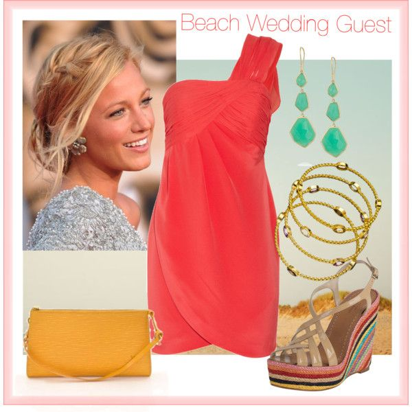 beach wedding guest by peapods on polyvore