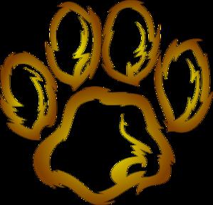 lions paw print clip