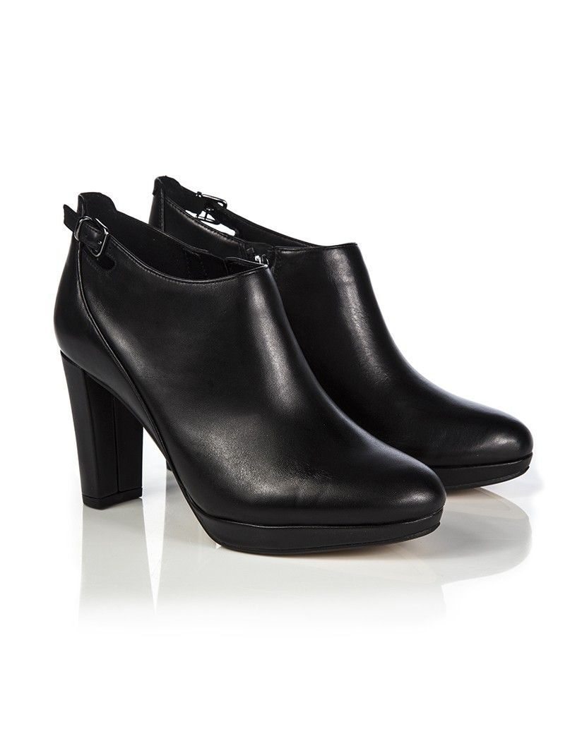 2c684af2f Clarks Women s Kendra Spice Small Cutout Detail Shoe Boots - Black Leather