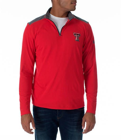 Under Armour Men s Texas Tech Red Raiders College Charged Cotton  Quarter-Zip Jacket f5ed6560c