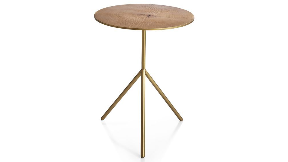 slice accent table crate barrel