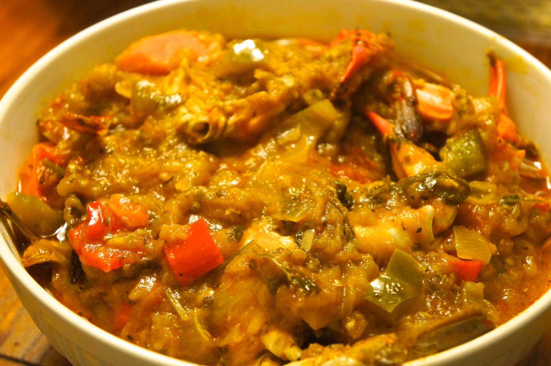 Afrikanische Küche Rezepte Haitian Recipe Eggplant With Blue Crabs The Word Legumes