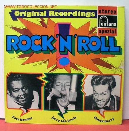 Original Recordings ' ROCK 'N' ROLL '   (FATS DOMINO, JERRY LEE LEWIS & CHUCK BERRY) LP33