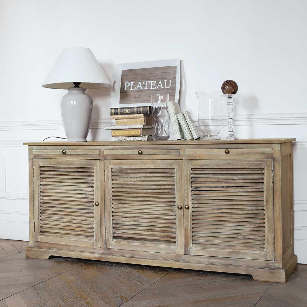 Buffet en manguier L 170 cm | Buffet, Salons and Bedrooms