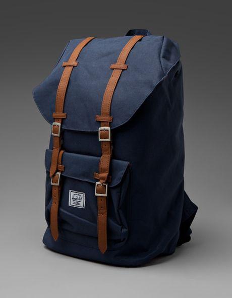 bd9759c1a4f Herschel Supply Co. Little America Backpack in Blue (navy) - Lyst ...