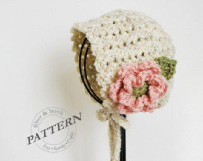CROCHET PATTERN - Petite Shells Baby Bonnet, Baby Crochet Bonnet ...