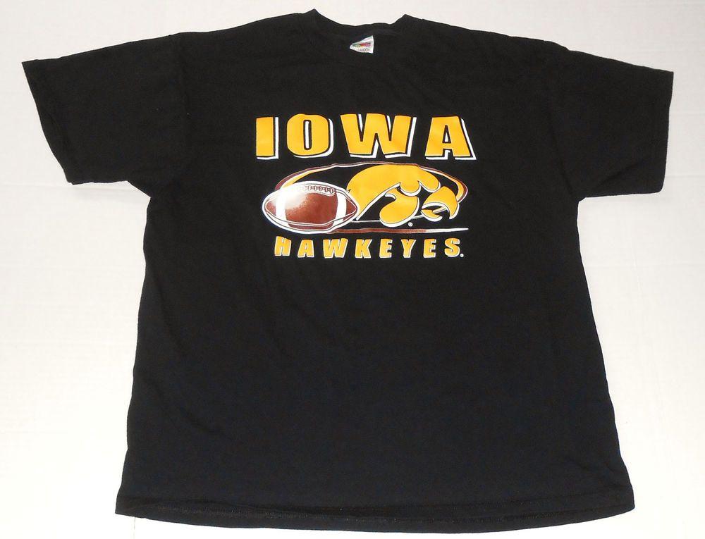 Iowa hawkeyes mens black logo t shirt xl extra large ncaa