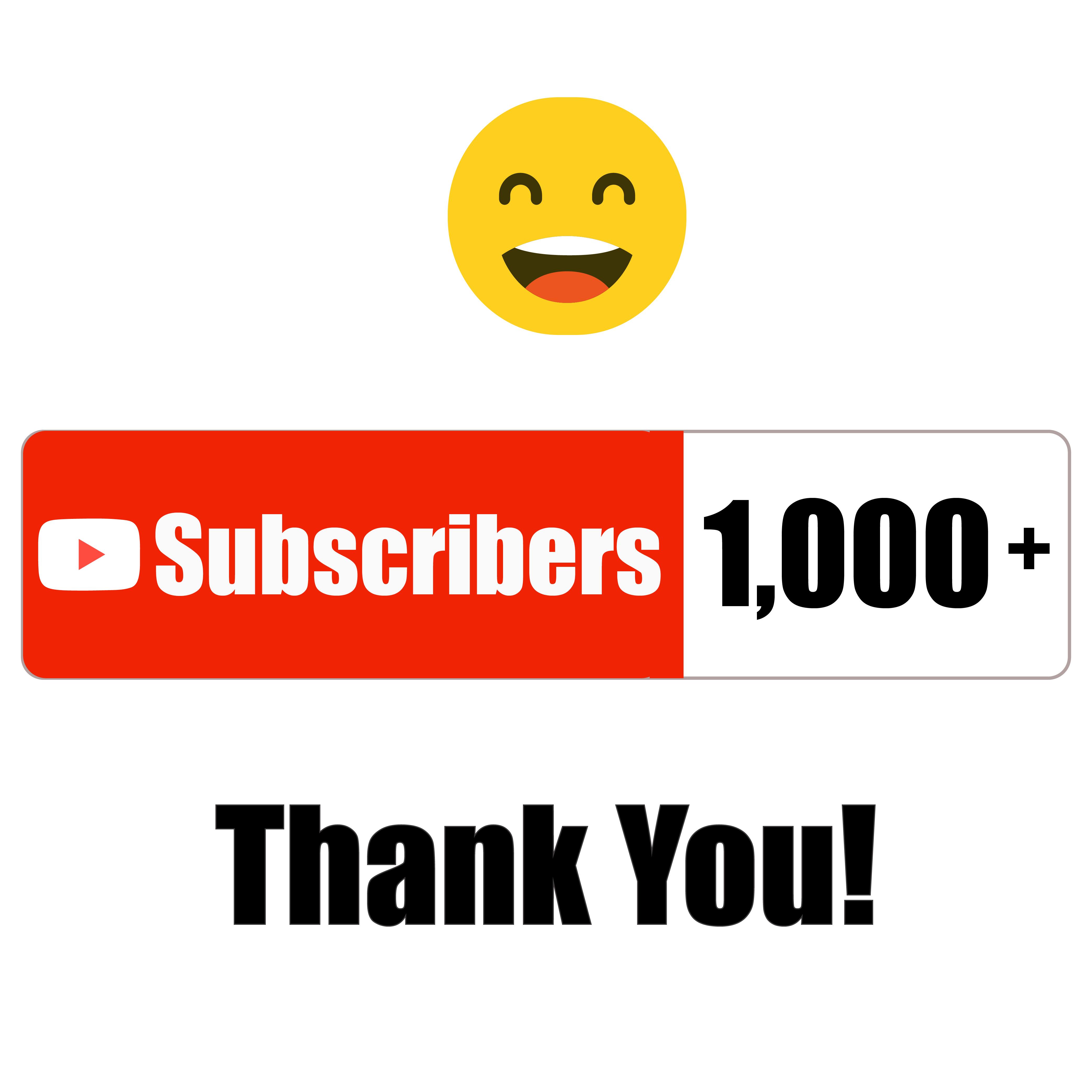 Our YouTube channel crossed over 1k subscribers! 😃 Many