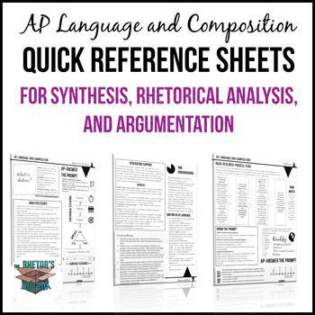 ap english language and composition essay quick reference