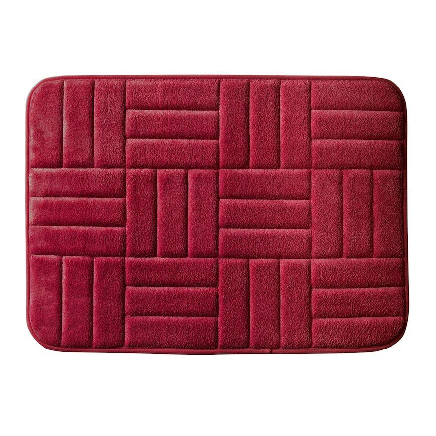 Popular Bath Parquet Bath Rug Red 17x24 Bath Rugs Memory Foam
