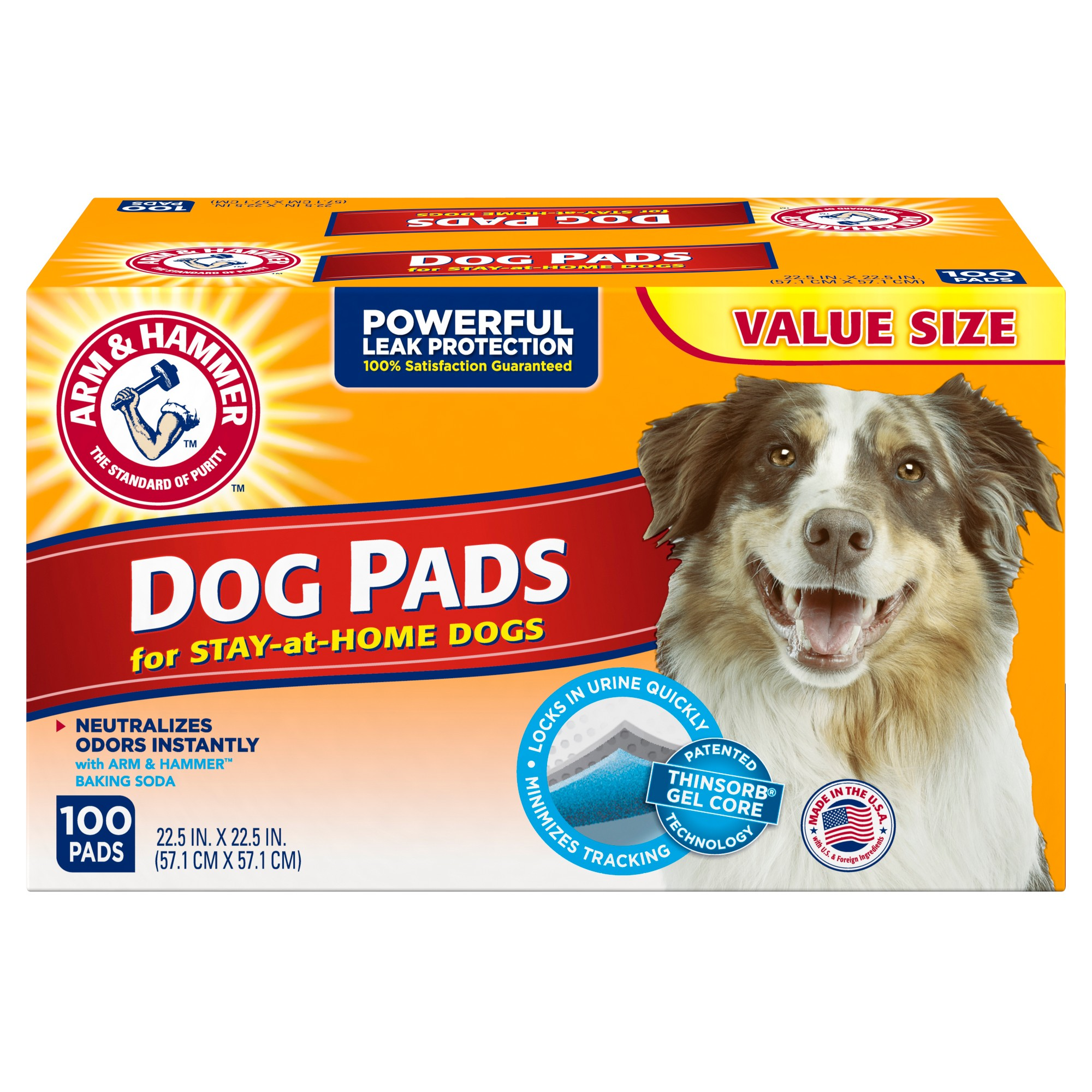 Arm Hammer Absorbent Dog Pads And Puppy Training Pads 100ct