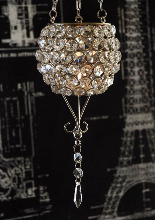 Hanging crystal candle holder hanging crystals Crystal candle chandelier
