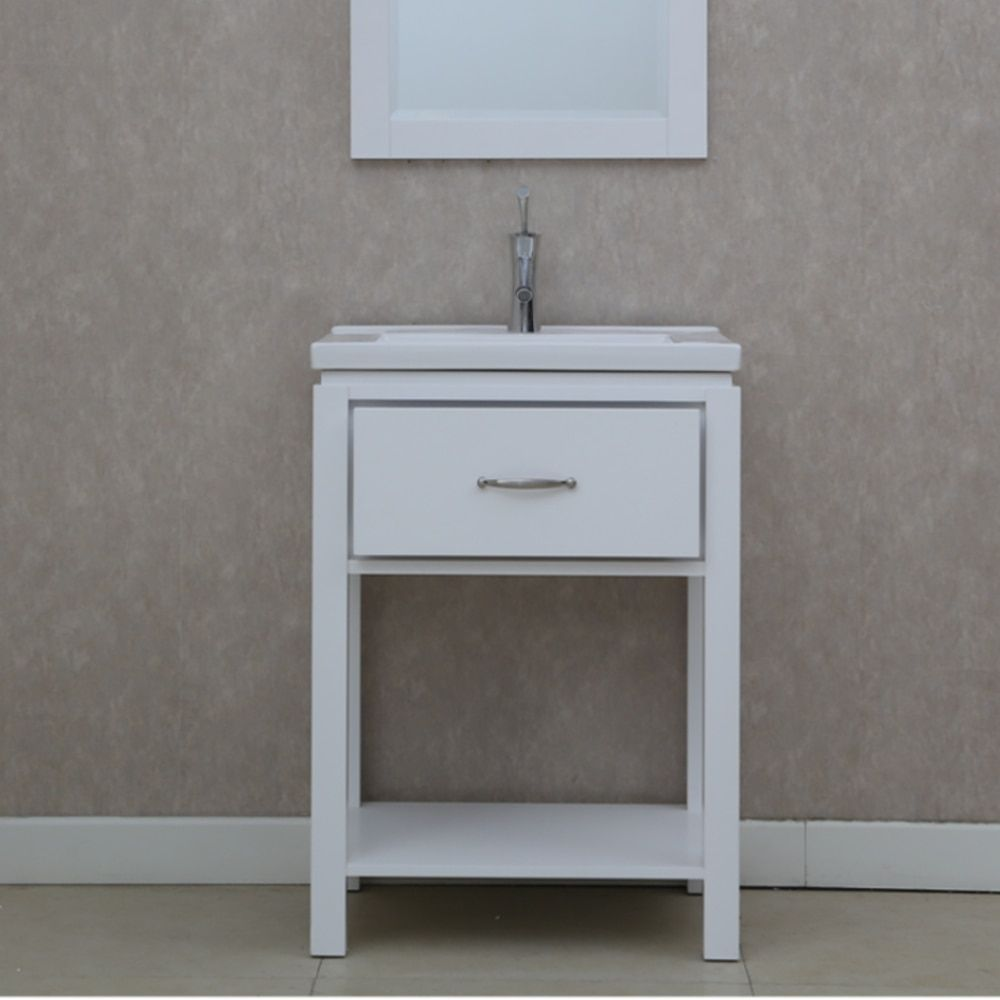 Infurniture 24 inch Extra thick Ceramic Sink-top Single Sink ...