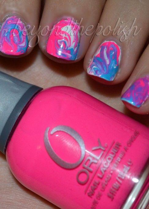Swirly Nails #tiedye #nailart | Nails | Pinterest | Orly ...