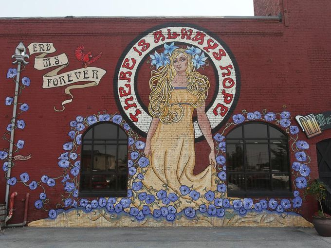View of the Multiple Sclerosis themed mural by LydiaEmily,