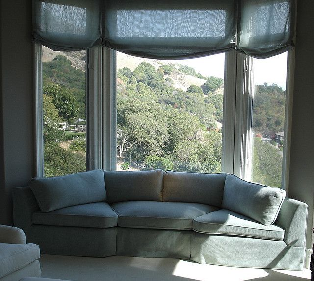 Bay Window Seat For A Lovely Addition: Bay Window Living Room, Living