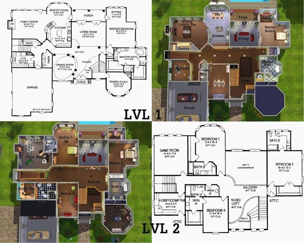 Sims 3 Mansion Floor Plan Pictures