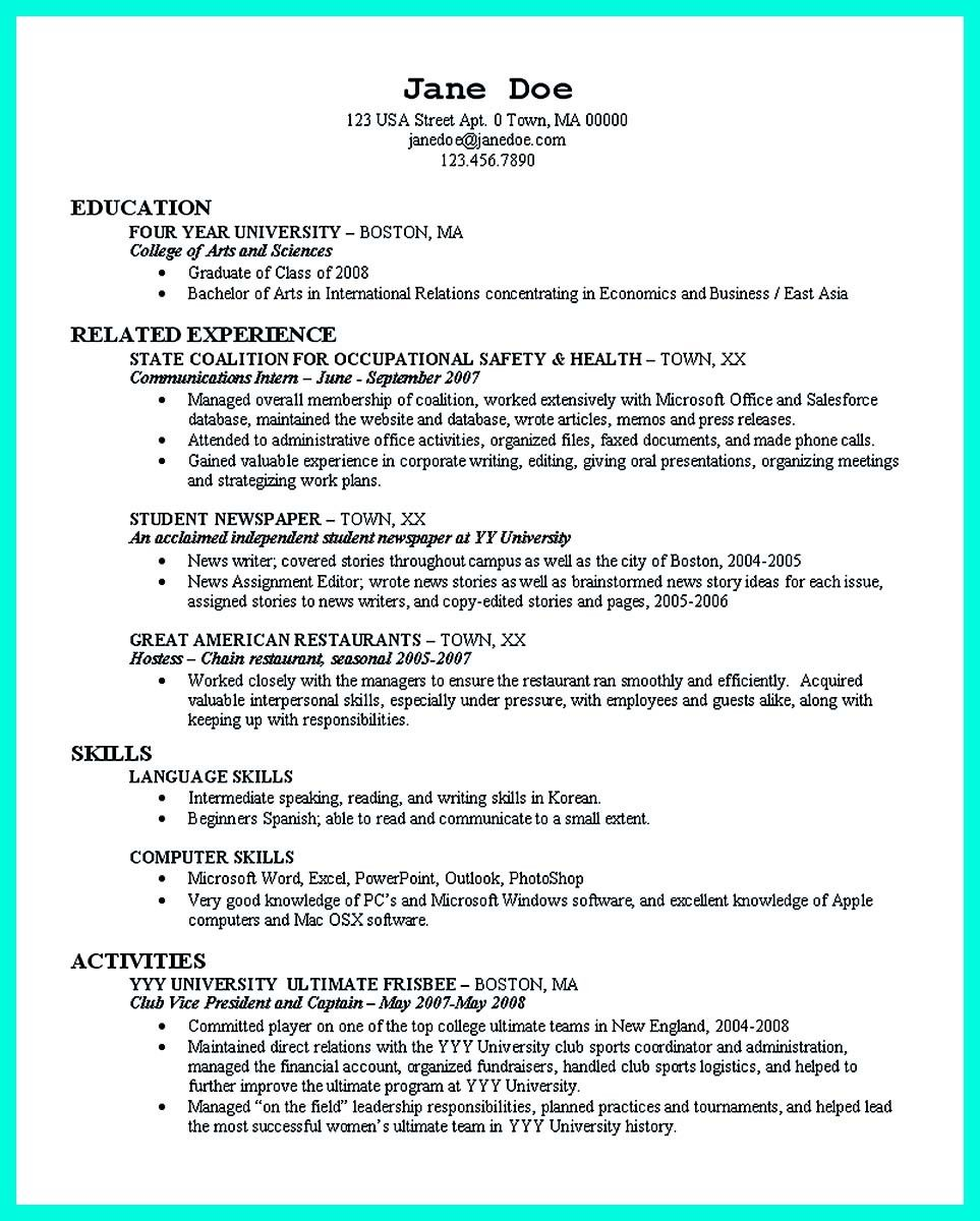 Resume Templates For A College Student 2 Reasons Why