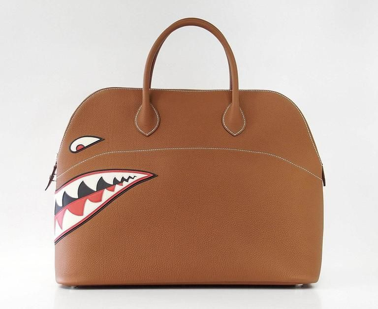 290a6dc3f19f HERMES BOLIDE Bag Very Rare Limited Edition Runway Shark Bolide Palladium 6