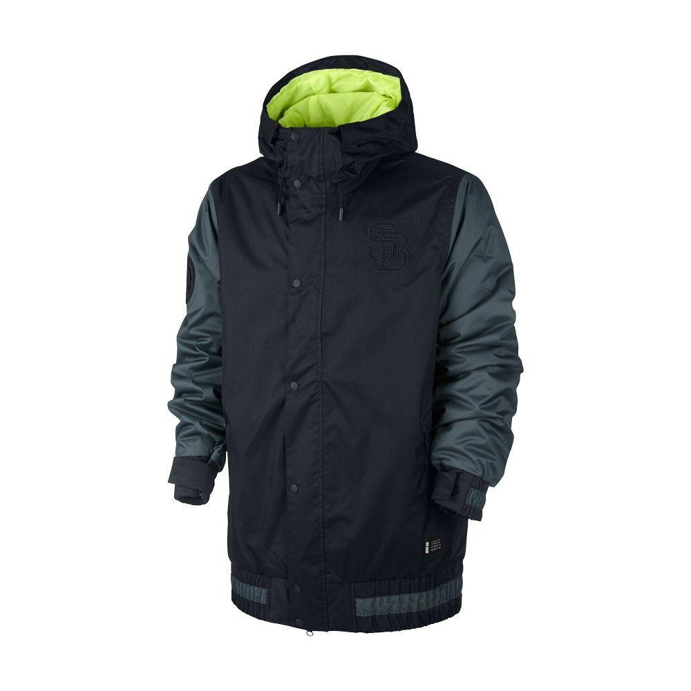 Veste Nike Sb Hazed Jacket Black Dark Magnet Grey Volt