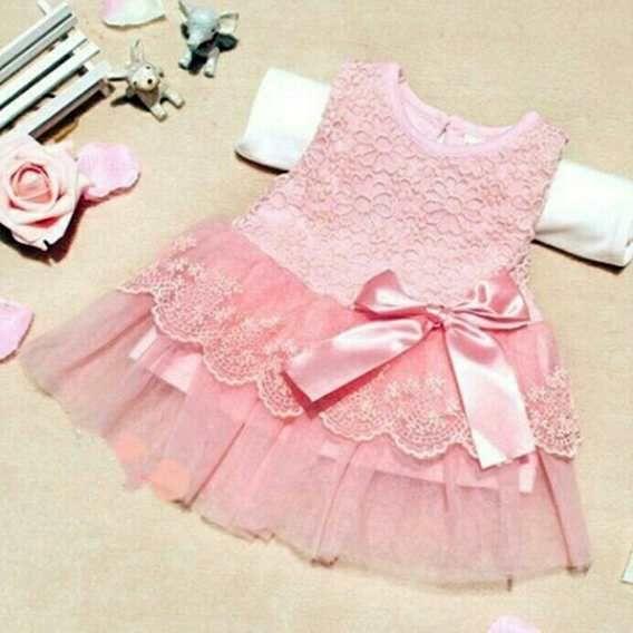 Vestido Niña Princesa Talla 3 A 9 Meses- Bebes