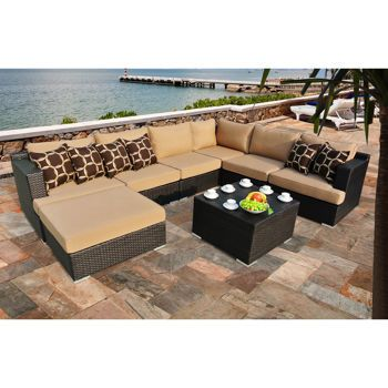 $2500 Costco   Niko 8 Piece Patio Deep Seating Modular Sectional By Sirio™