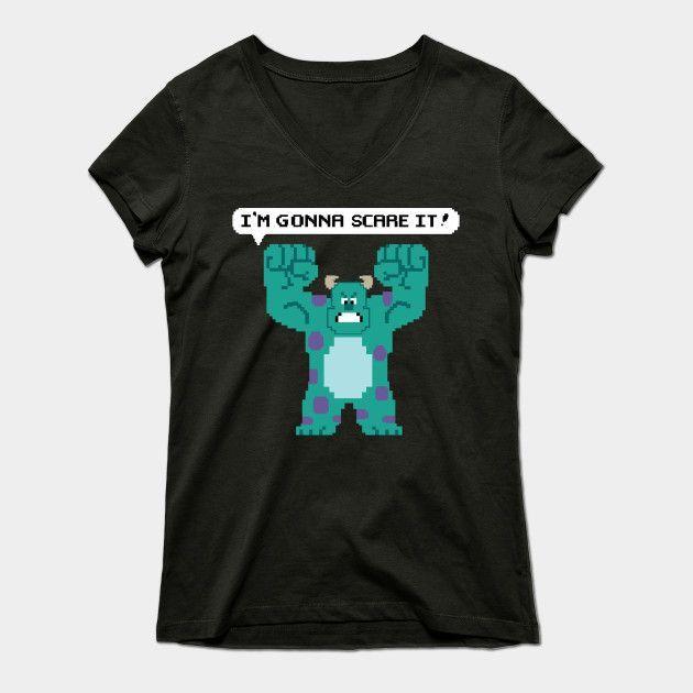 I'm Gonna Scare It! Womens V-Neck T-Shirt