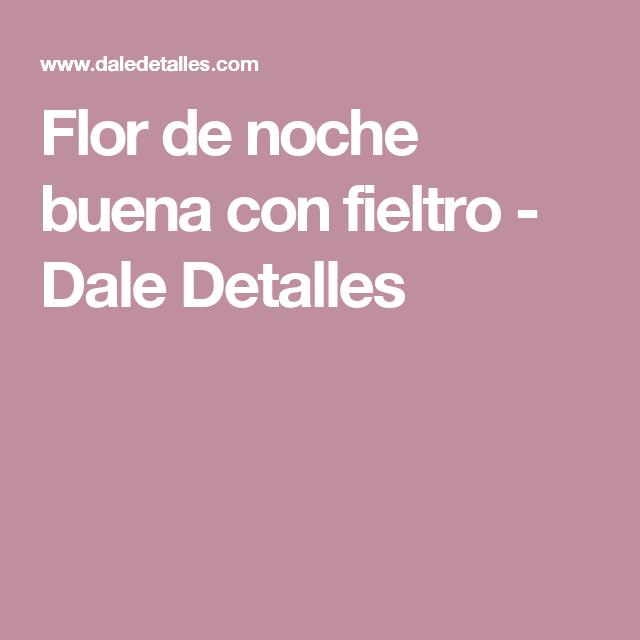 Flor de noche buena con fieltro - Dale Detalles