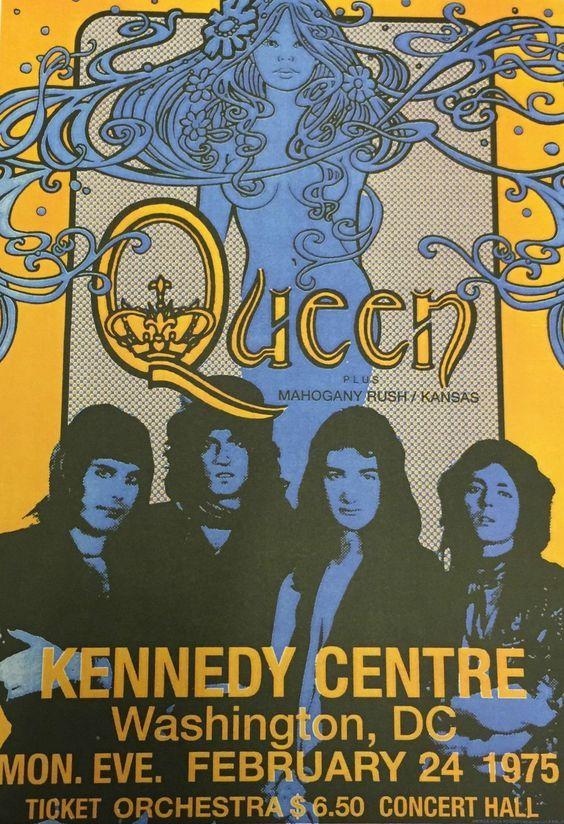 Queen Concert Poster Vintage Concert Posters Concert Posters Band Posters