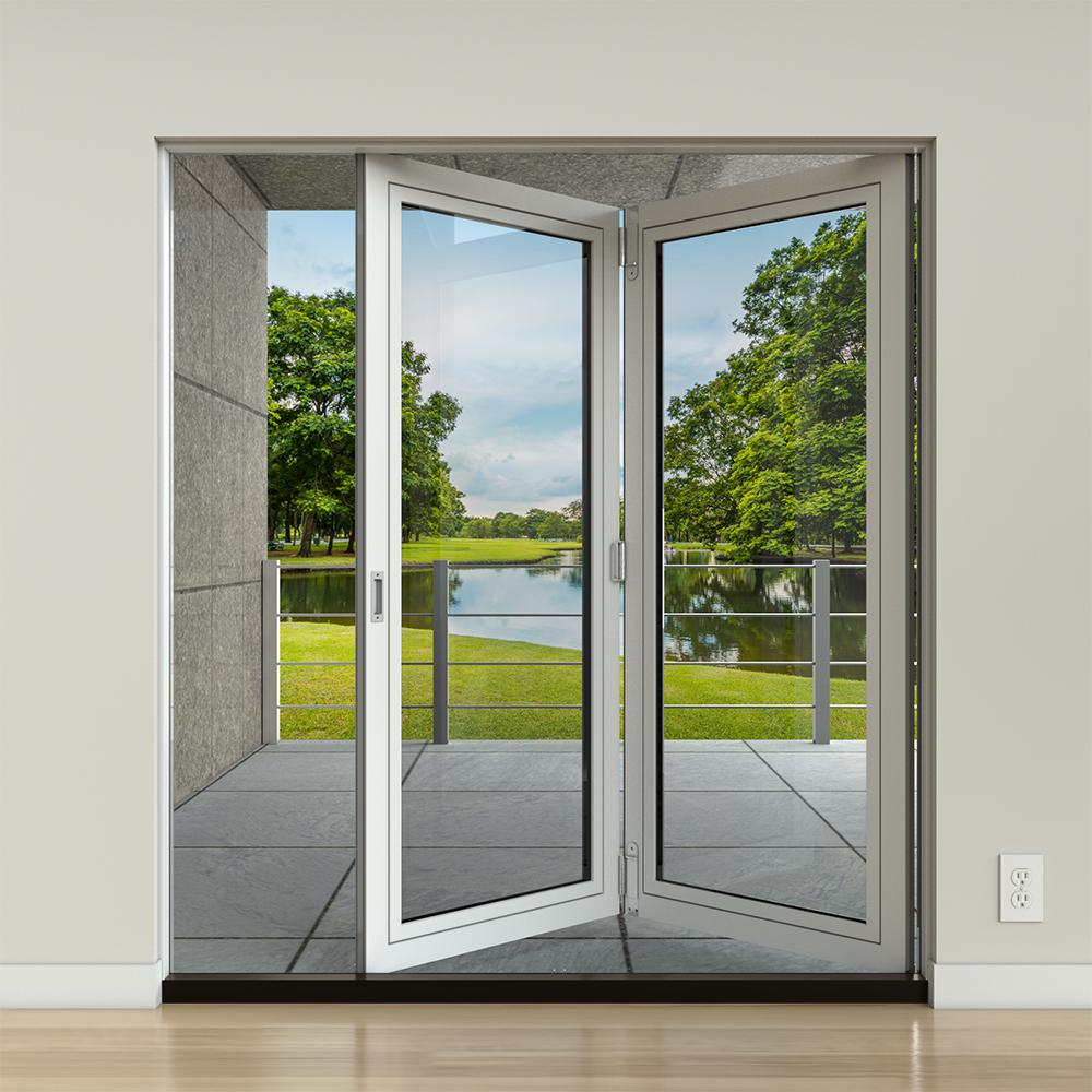 Jeld Wen 36 In X 78 In F 2500 Lf 2 Primed Fiberglass Left Hand Folding Full Lite Active Patio Door Slab French Doors Exterior Patio Doors Folding Patio Doors