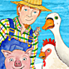 """This is such a fun kids app!  The silly story lets them yell """"no!"""" as they help a farmer search for his missing goose.  Plus it comes with a never-ending animal wrangling game, 15 puzzles, and a matching game with 6 different levels."""