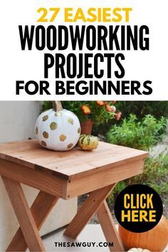 Woodworking is a wonderful hobby! There are many beautiful and functional woodworking projects that are easy enough for beginners. Click on for 27 of our favorite ones!  #thesawguy #easywoodworkingprojects #woodworkingprojectsforbeginners #bestwoodworkingprojects #diyfurniture #diyprojects