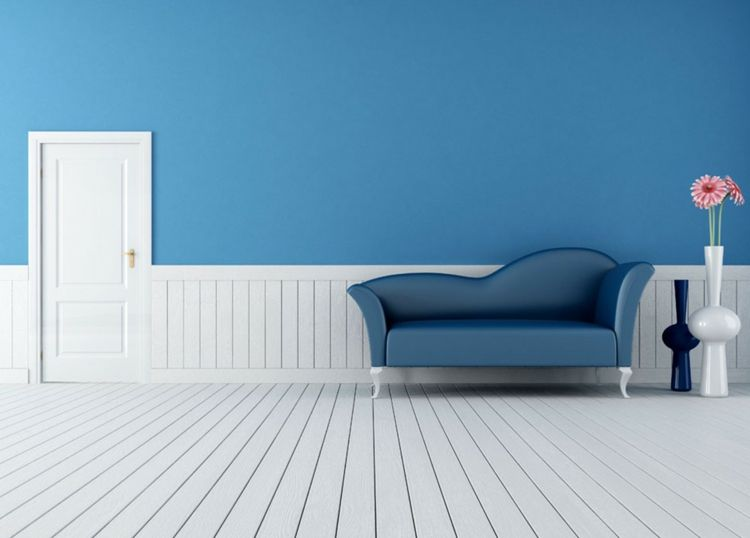 Color azul en las paredes de interior - cincuenta diseños geniales ...