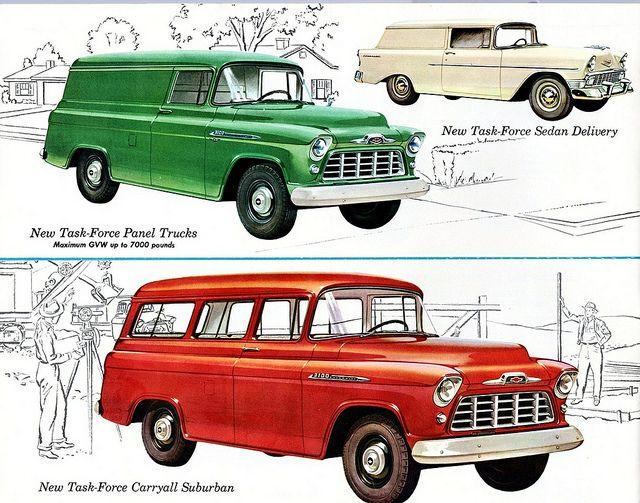 1956 Chevrolet Panel Truck, Suburban & Sedan Delivery | por aldenjewell