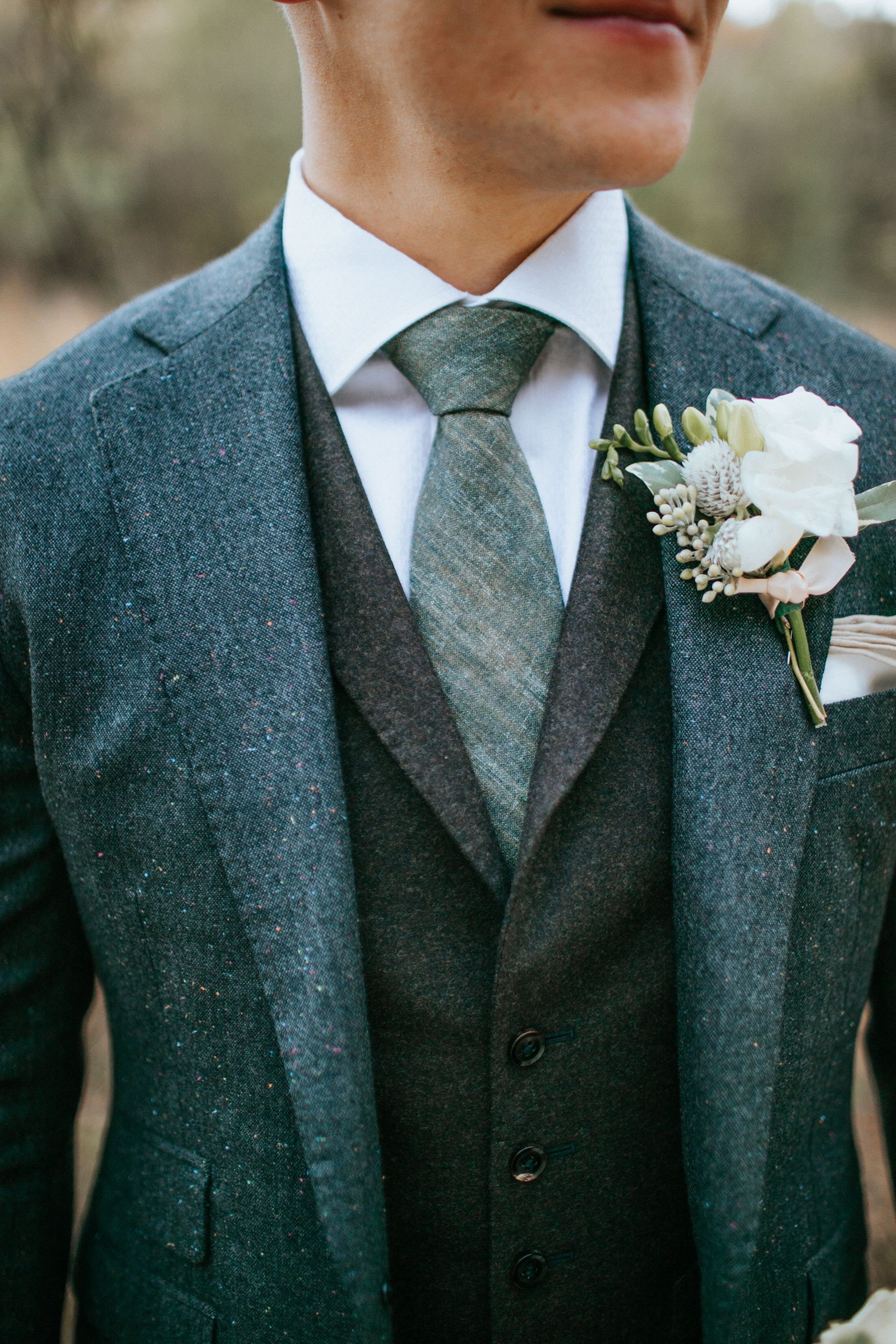 Daniel George Custom 3 Piece Wedding Suit In Donegal Tweed Wedding Suits Suits Wedding Men