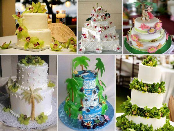 Hawaiian Cakevery pretty Ideas for LuauTiki Anniversary