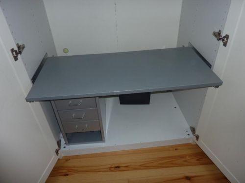 einbau arbeitsplatz f r pax schrank von ikea wohnen b ro pinterest. Black Bedroom Furniture Sets. Home Design Ideas