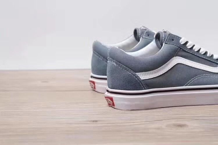 b5c7bbb84b 17FW overseas most popular color elves blue VANS Old Skool old Julian  neutral wild vulcanized canvas shoes