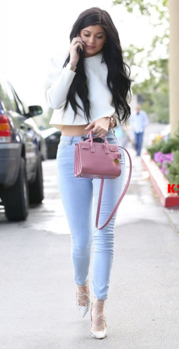Kylie Jenner and her mini sac de jour