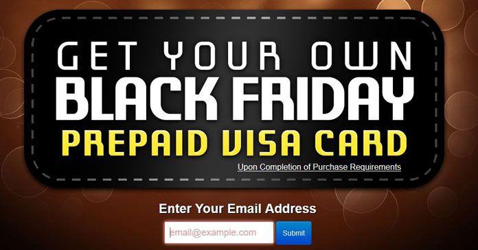 Photo of Black Friday Prepaid Gift Card