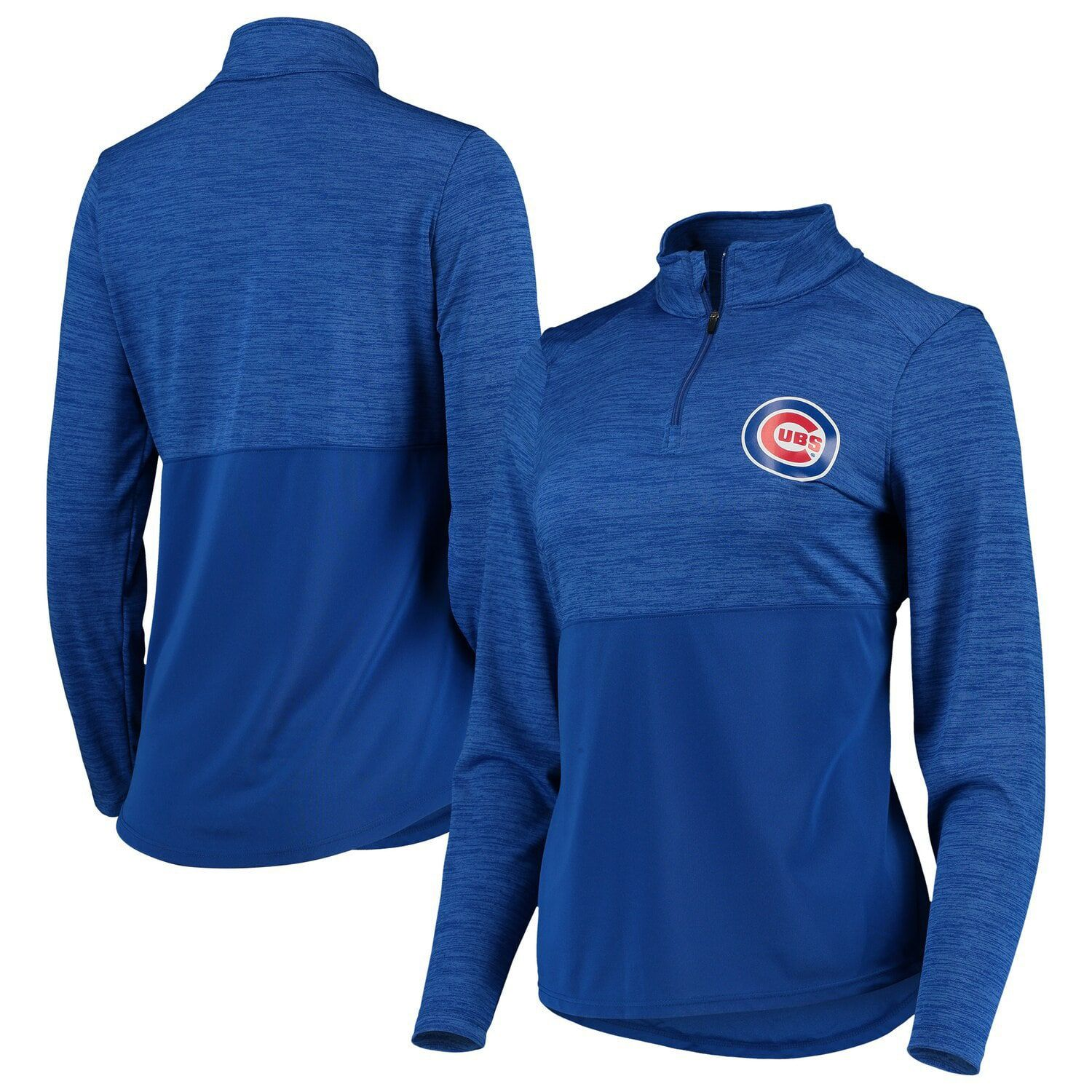 Women S Fanatics Branded Royal Chicago Cubs Quarter Zip Pullover Jacket Affiliate Royal Affiliate Quarter Zip Pullover Pullover Jacket Chicago Cubs Womens
